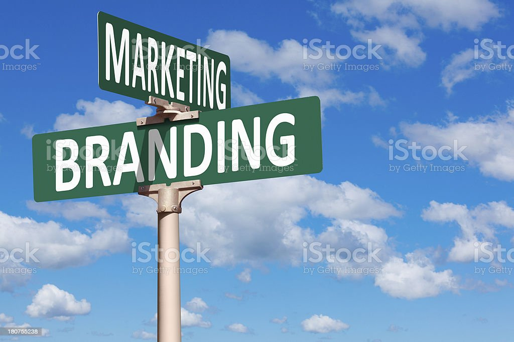 Marketing and Branding Street Sign royalty-free stock photo