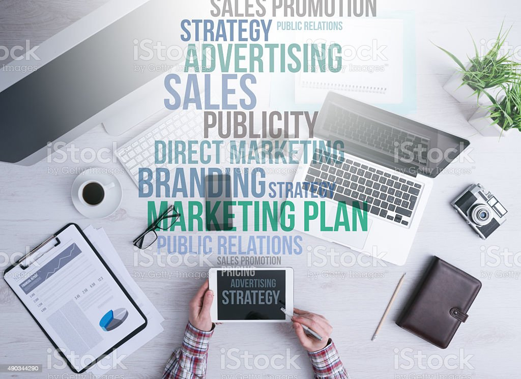 Marketing and business concepts stock photo