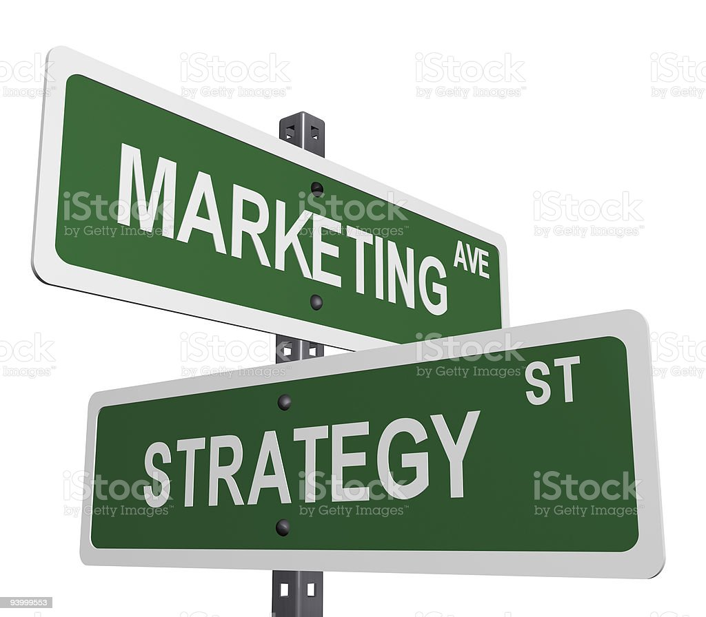 Marketing and strategy stock photo