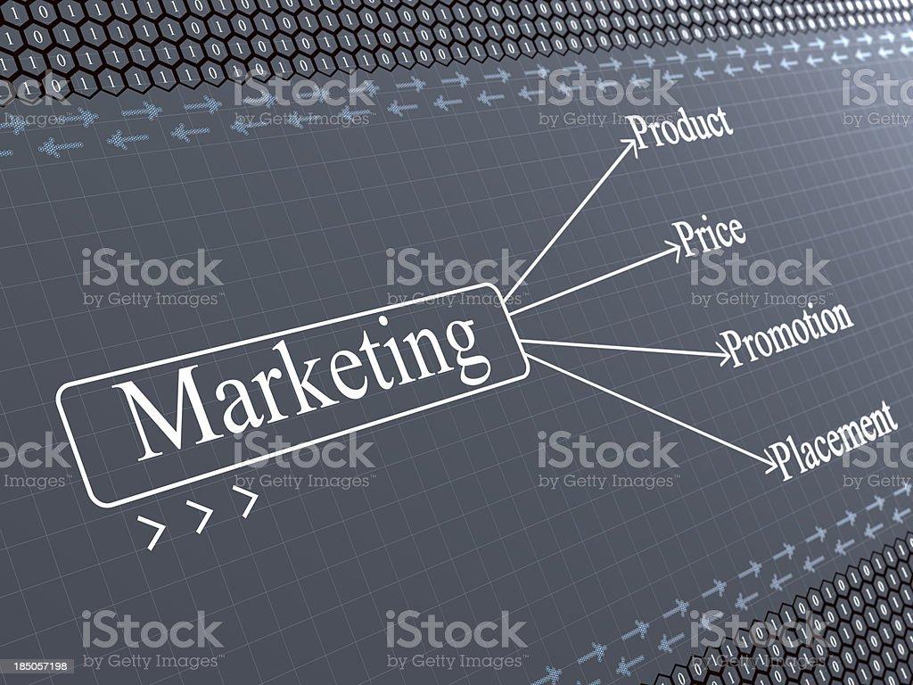 Marketing background royalty-free stock photo