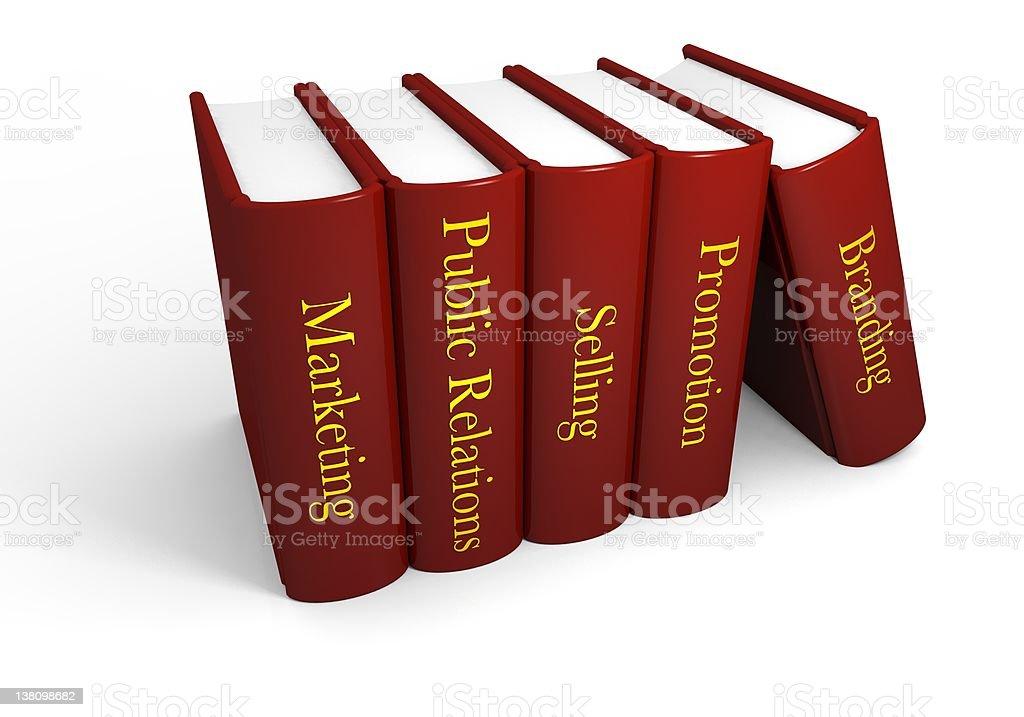 Marketing books royalty-free stock photo
