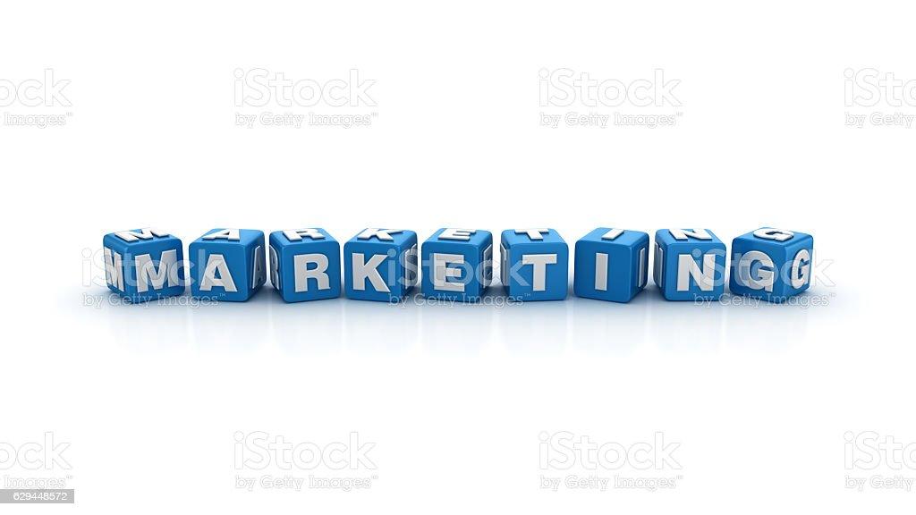 Marketing Buzzword Cubes - 3D Rendering stock photo