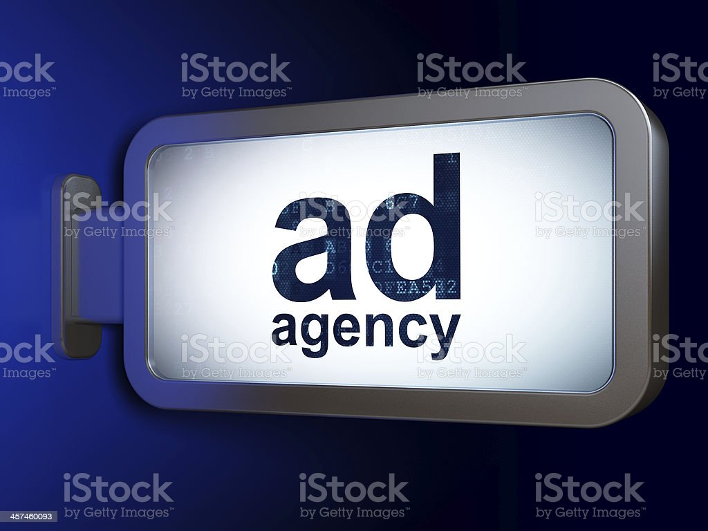 Marketing concept: Ad Agency on billboard background royalty-free stock photo