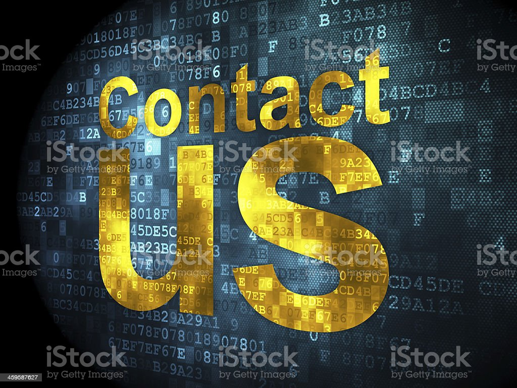 Marketing concept: Contact Us on digital background stock photo