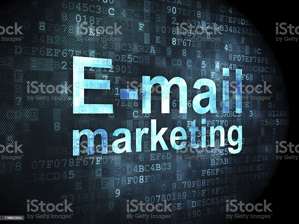 Marketing concept: E-mail on digital background royalty-free stock photo