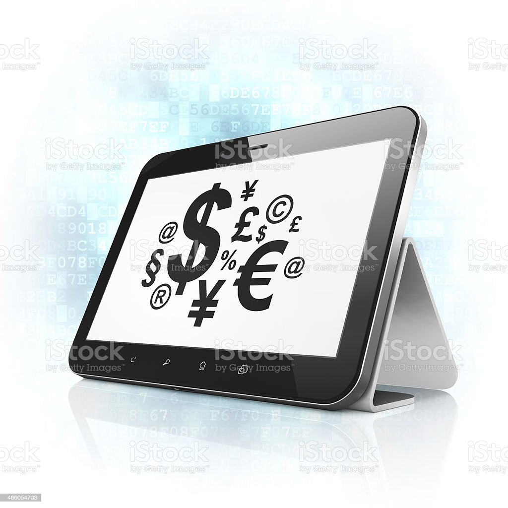 Marketing concept: Finance Symbol on tablet pc computer royalty-free stock photo
