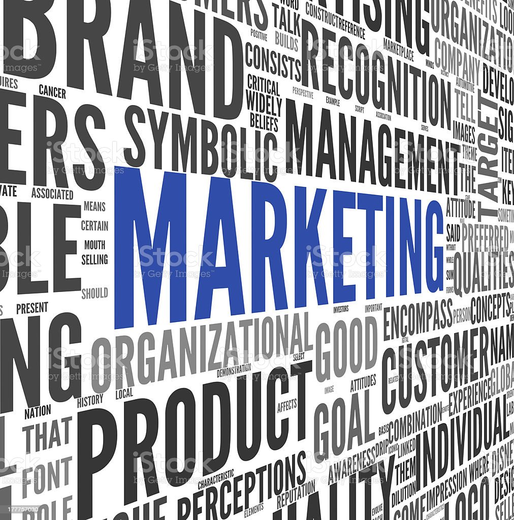 Marketing concept in word tag cloud royalty-free stock photo