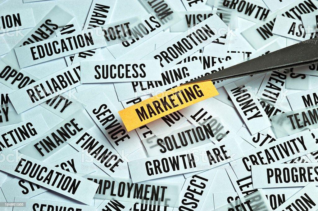 Marketing Concept stock photo