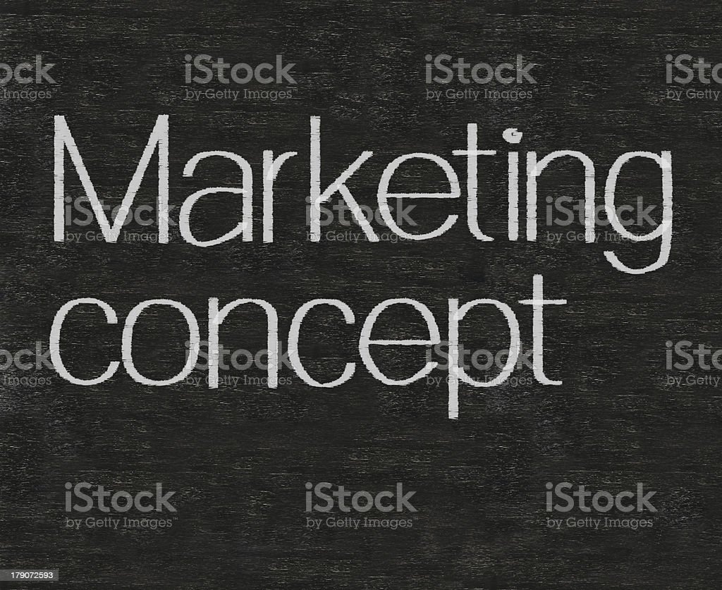 marketing concept written on blackboard background high resolution royalty-free stock photo