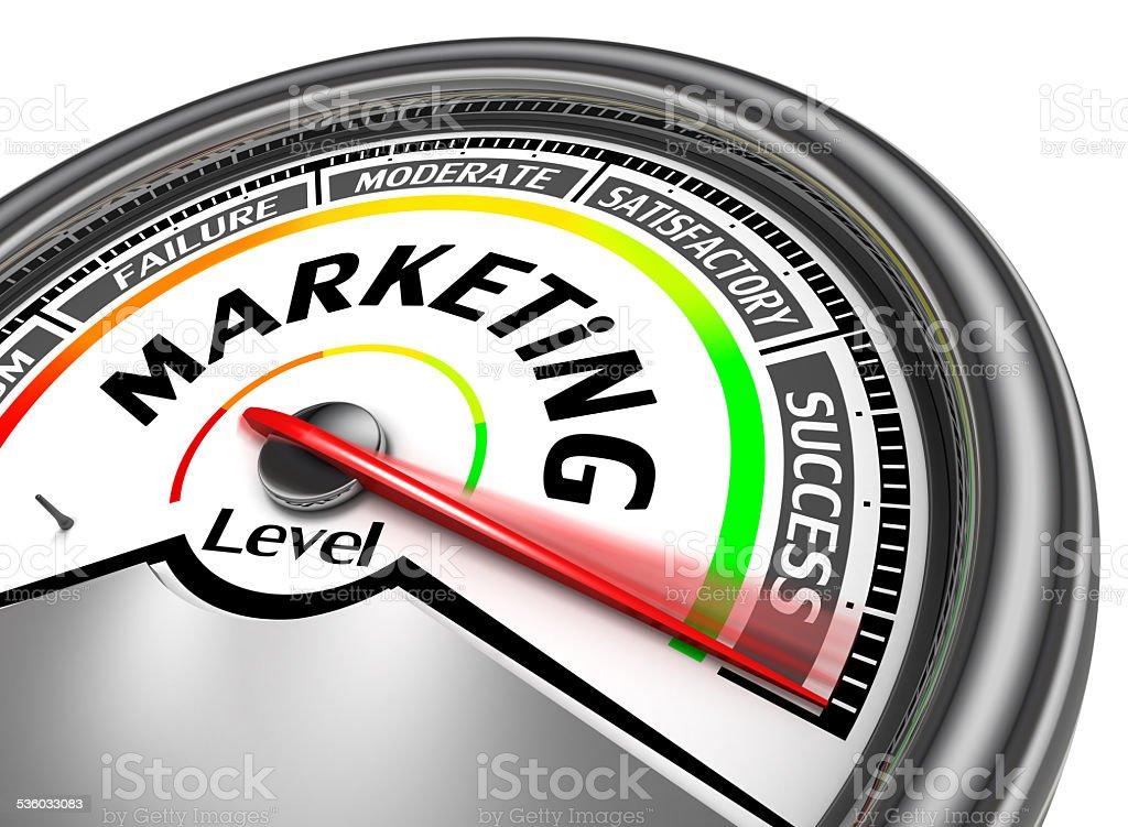 marketing conceptual meter stock photo