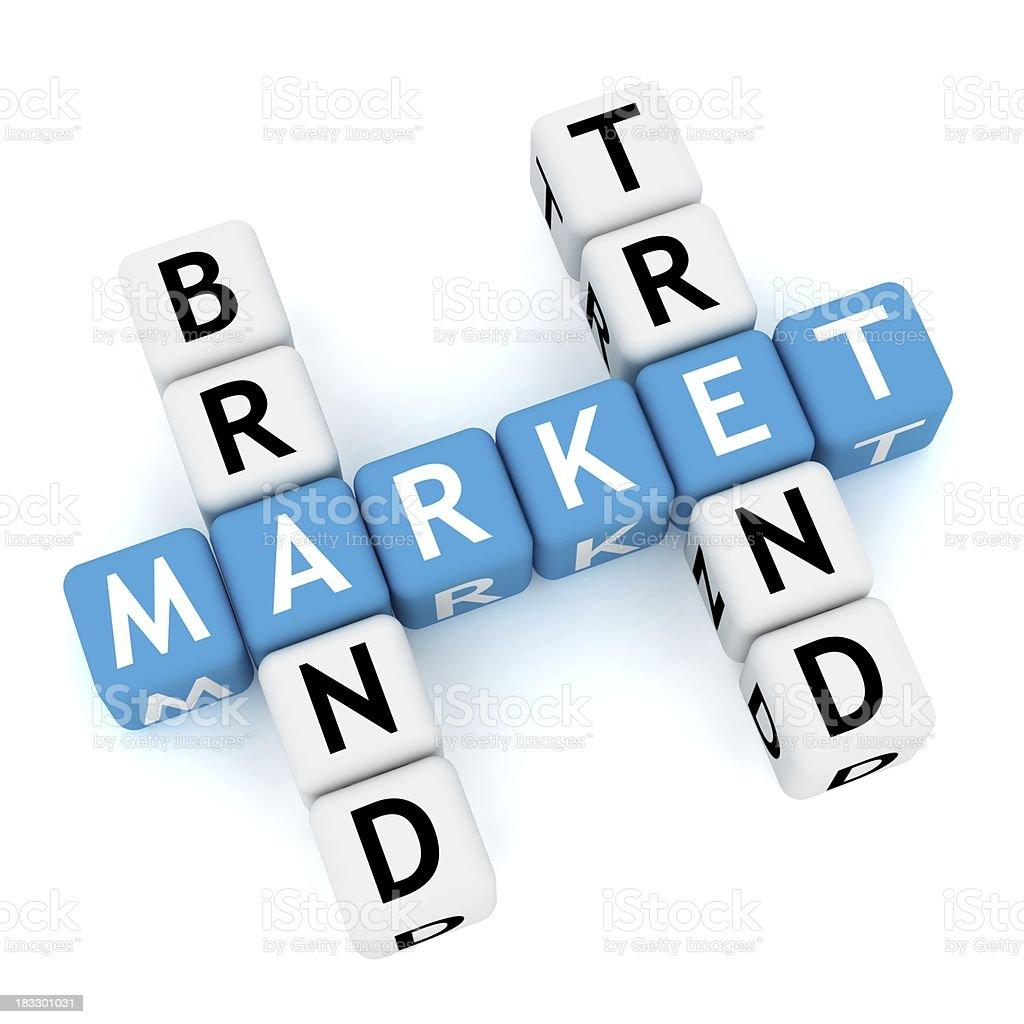 Marketing Crossword royalty-free stock photo