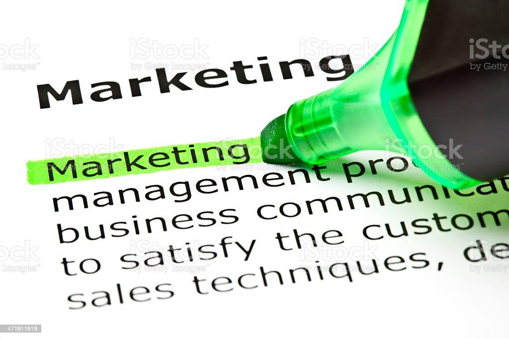'Marketing Definition royalty-free stock photo