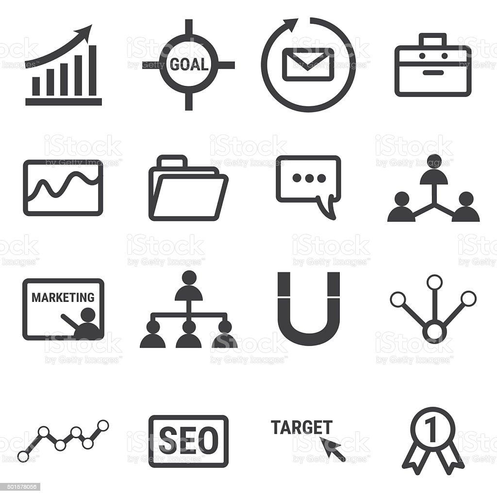 Marketing icons. stock photo