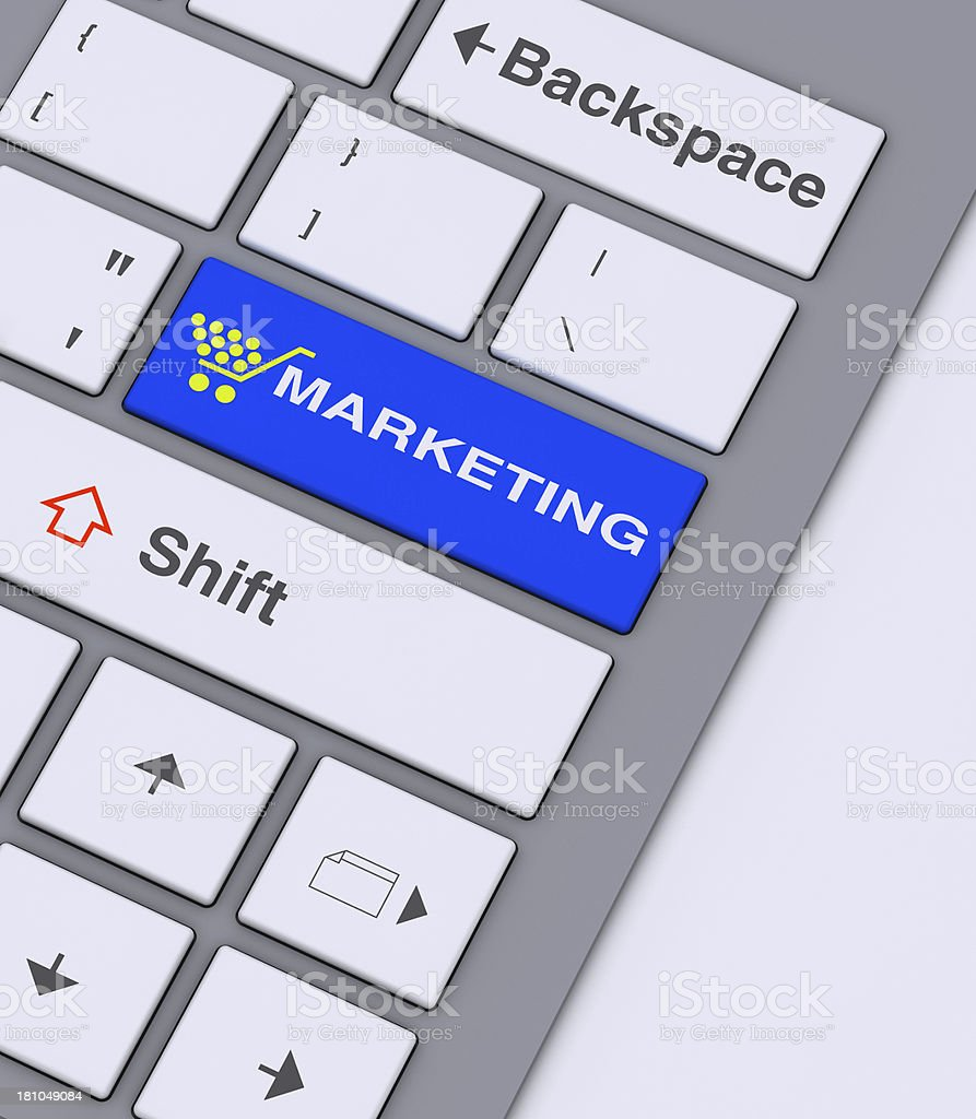 marketing key concept royalty-free stock photo
