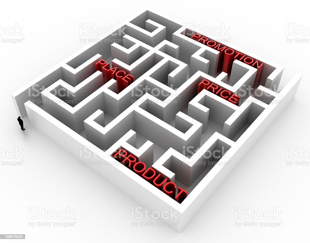 Marketing Labyrinth stock photo