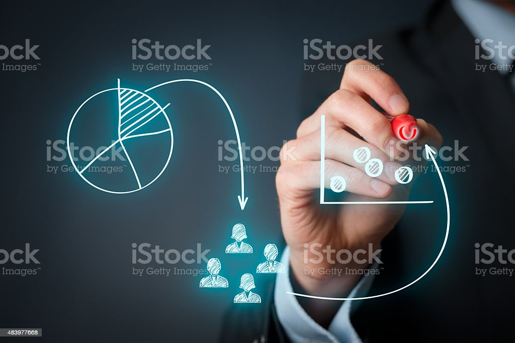 Marketing positioning stock photo