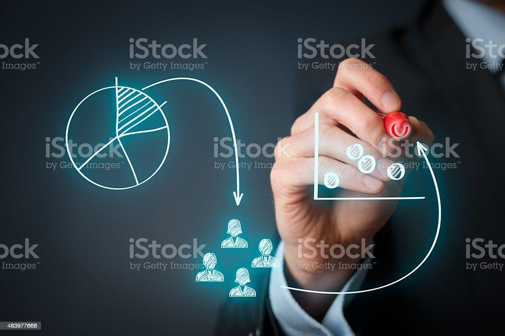 Marketing positioning stock photo