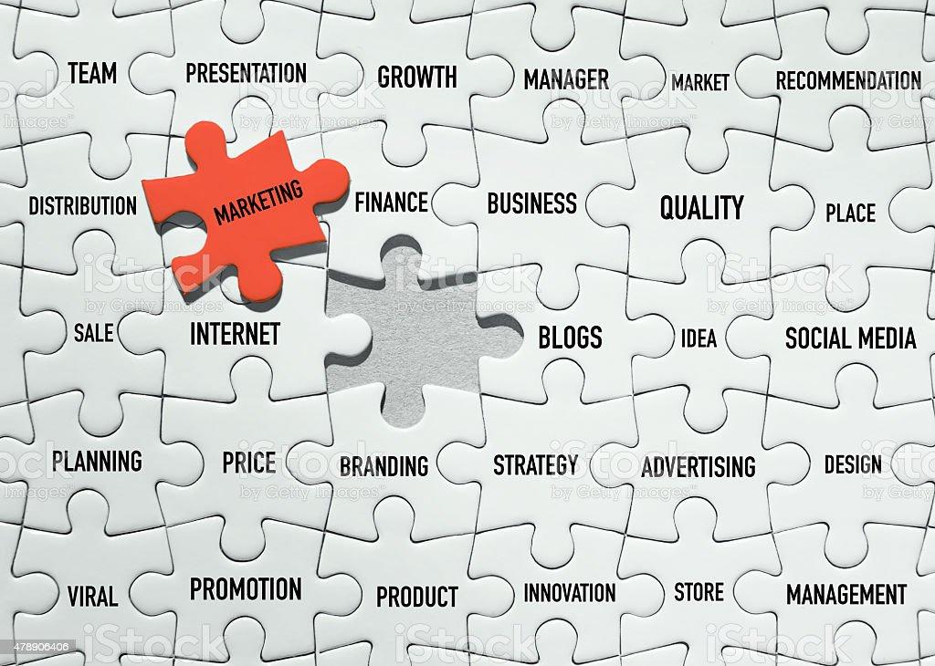 Marketing Puzzles stock photo