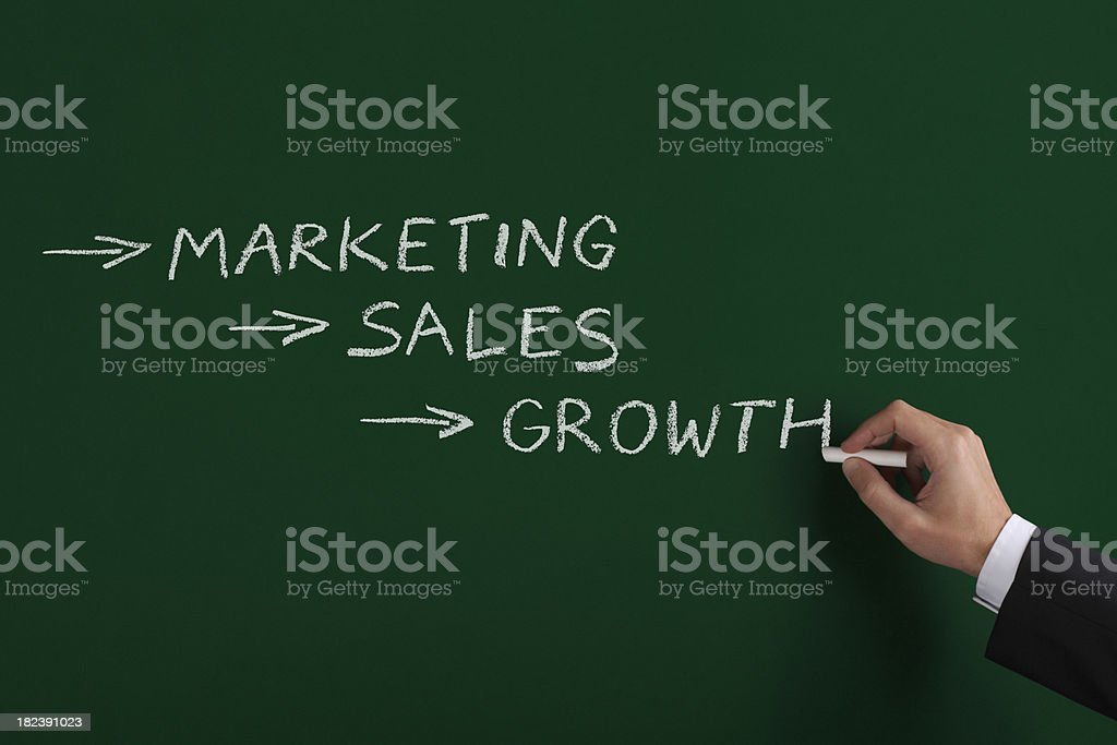 Marketing Sales Growth XL+ royalty-free stock photo