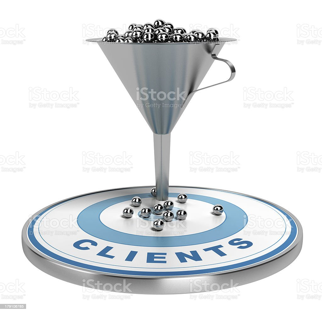 Marketing Sales or Conversion Funnel stock photo