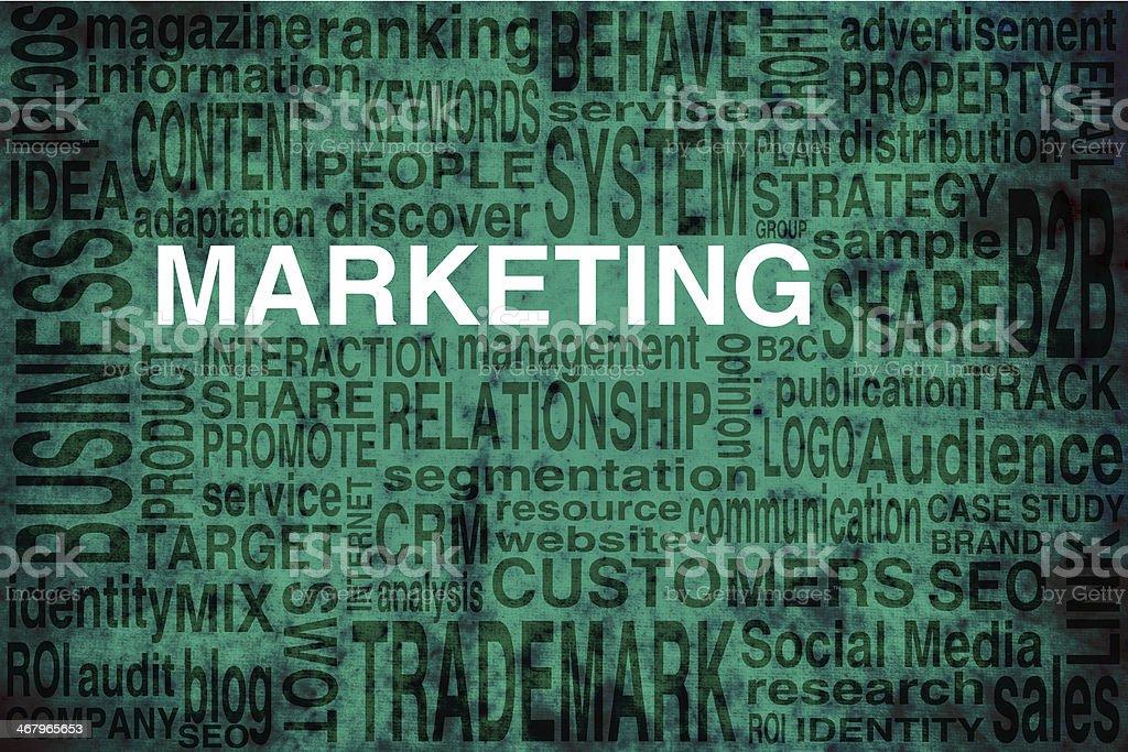 Marketing scheme stock photo