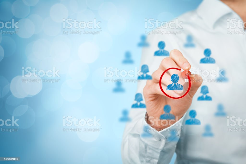 Marketing segmentation and targeting stock photo