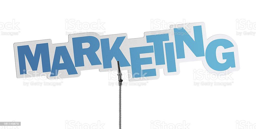 Marketing, Speech Bubble in Wire Clam stock photo