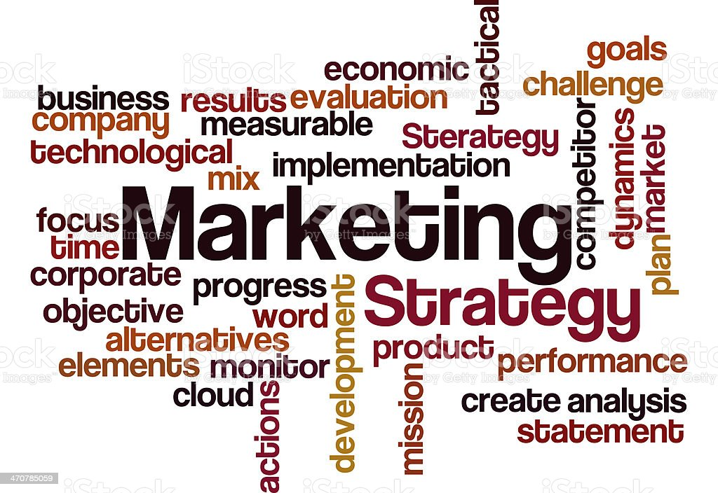 marketing strategy concept background royalty-free stock photo