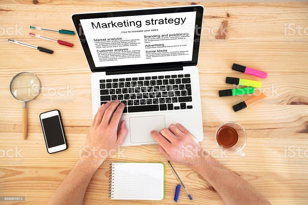 marketing strategy concept stock photo