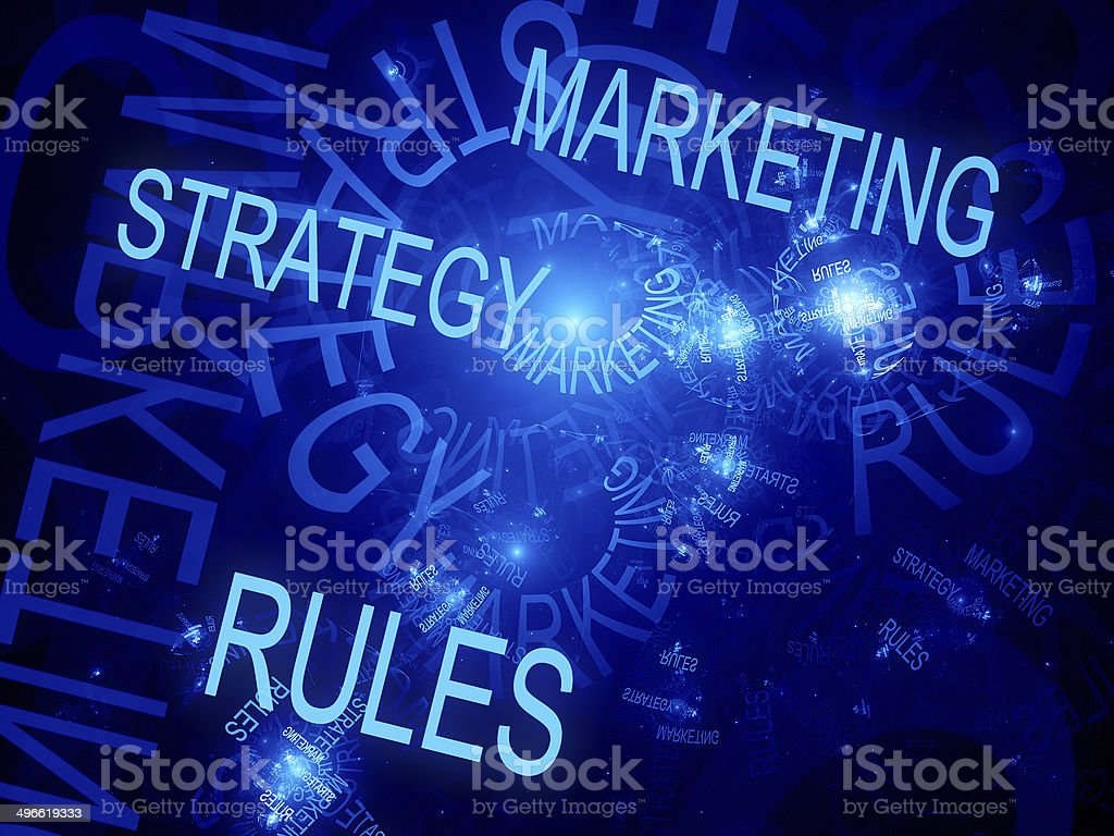 Marketing strategy rules royalty-free stock photo