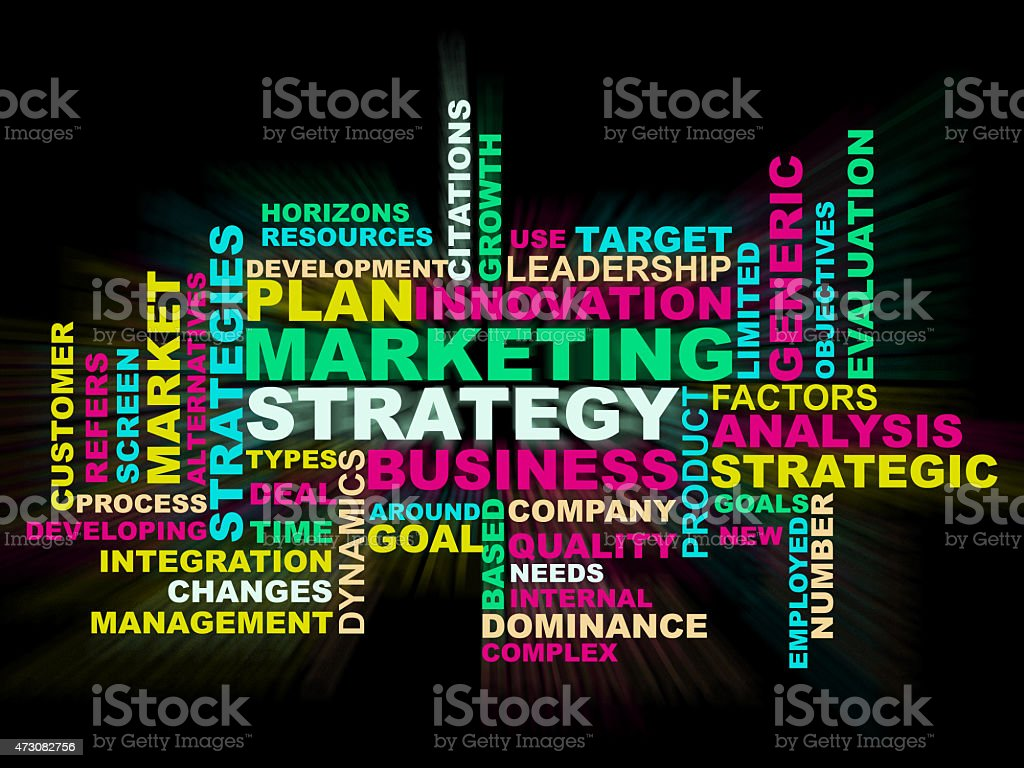 Marketing Strategy wordclouds stock photo