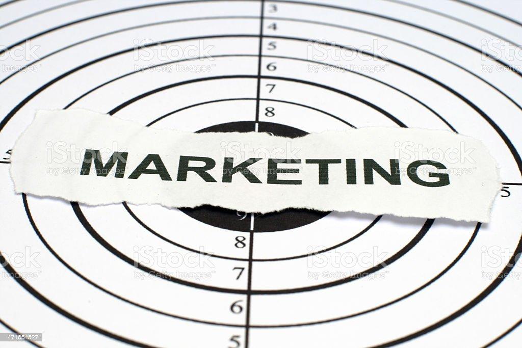 Marketing target royalty-free stock photo