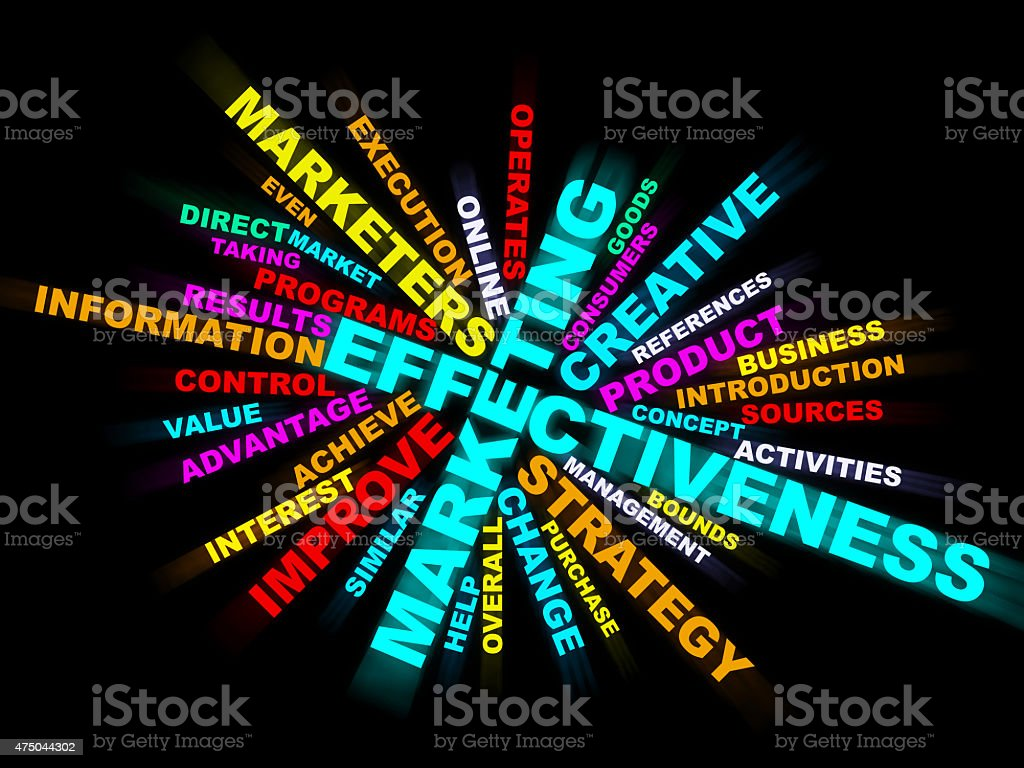 Marketing,effectiveness,strategy,business,wordclouds stock photo