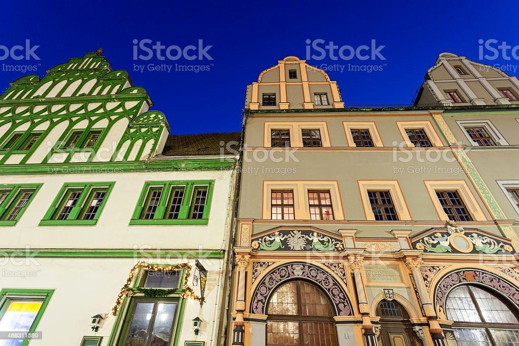 Marktplatz architecture in Weimar stock photo