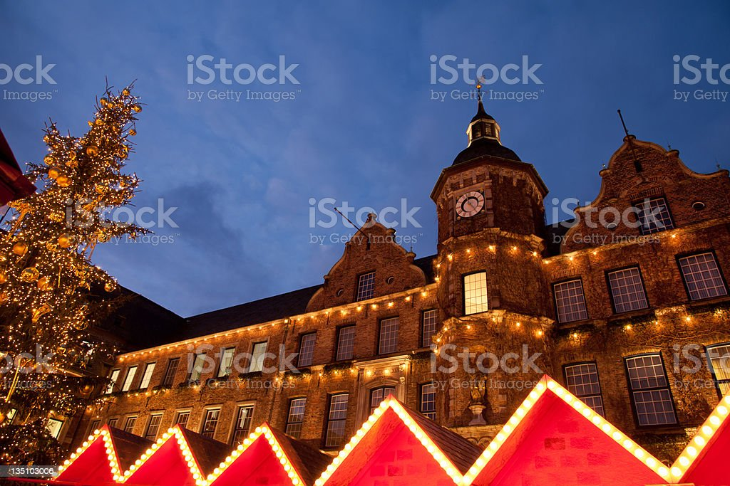 Marketplace in Altstadt stock photo
