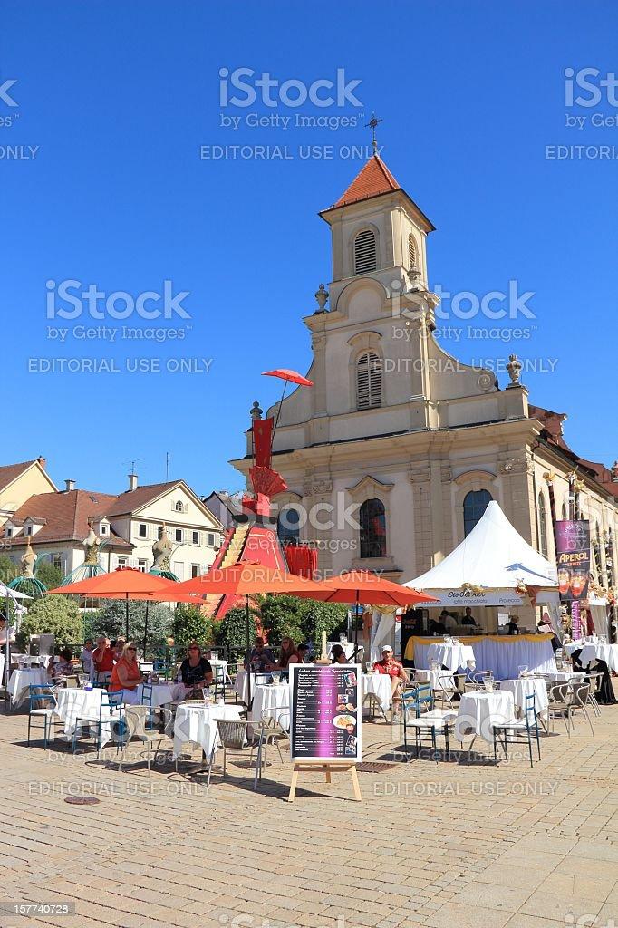 Marketplace in Ludwigsburg stock photo