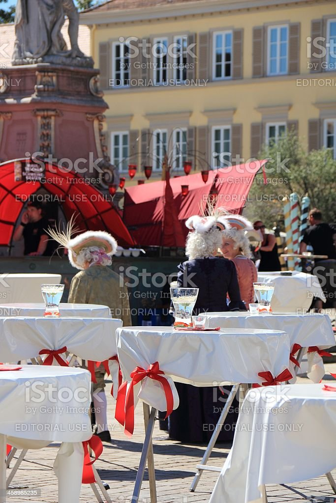 Marketplace in Ludwigsburg stock photo
