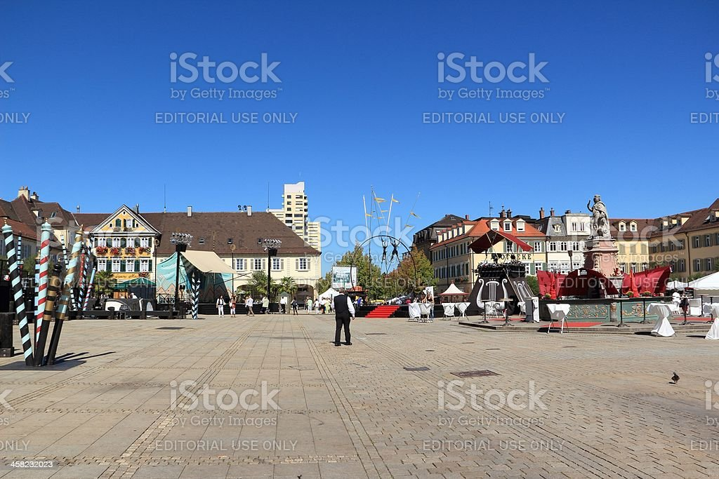 Marketplace in Ludwigsburg - Venetian Fair stock photo