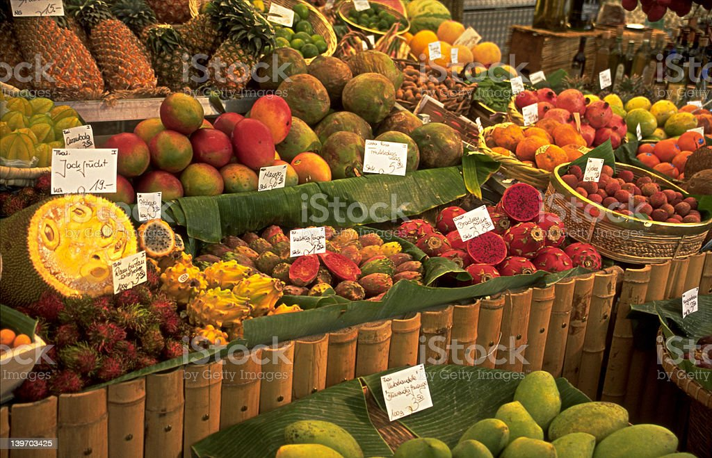 Marketplace in Munich royalty-free stock photo