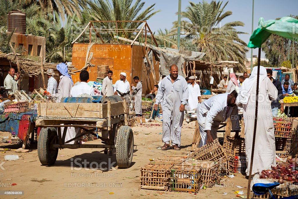 Marketplace in the Siwa oasis stock photo