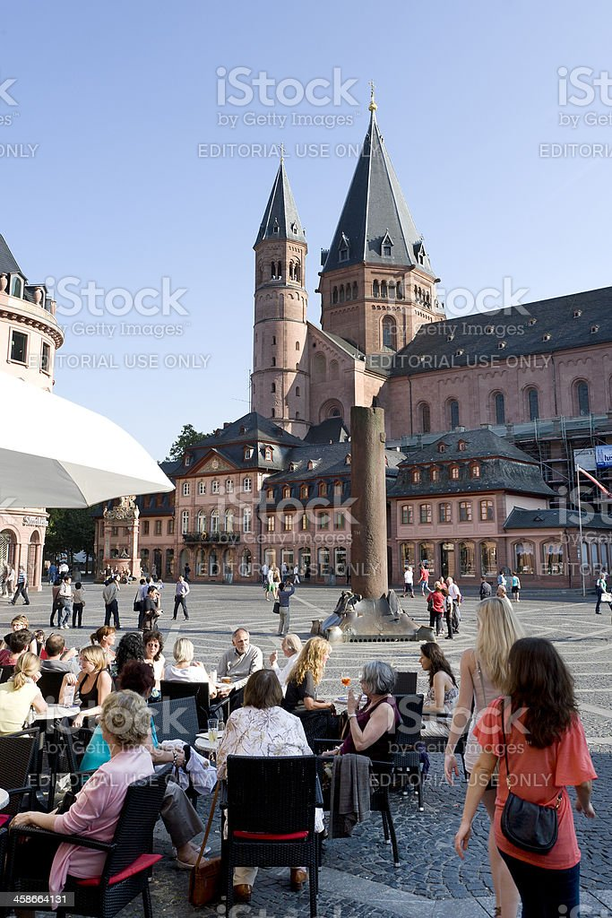 Marktplatz Mainz, Germany stock photo