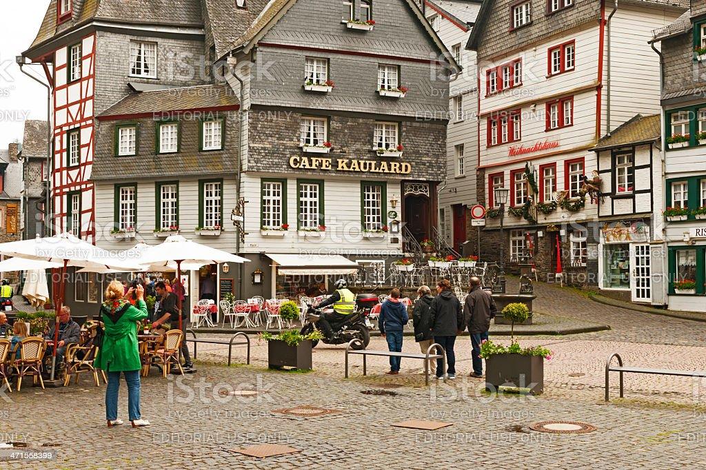 Marketplace of Monschau stock photo