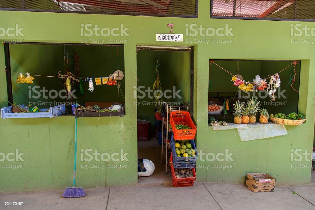 marketplace view from Palacaguina, Nicaragua stock photo