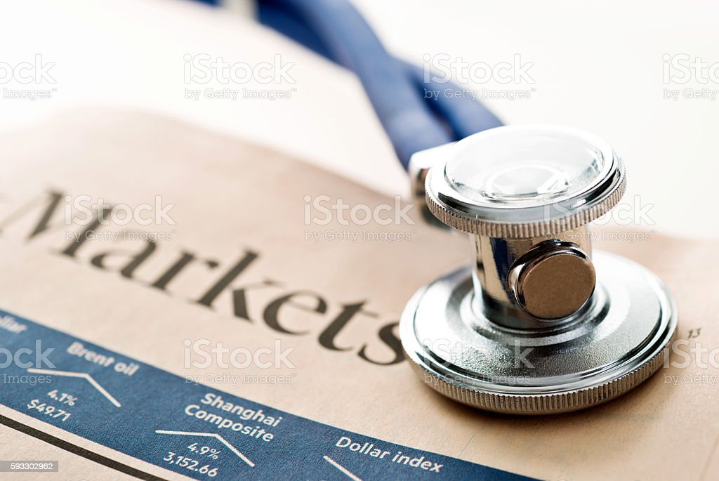 Markets health check stock photo