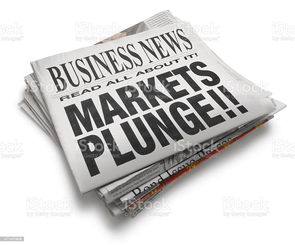 Markets Plunge!! stock photo