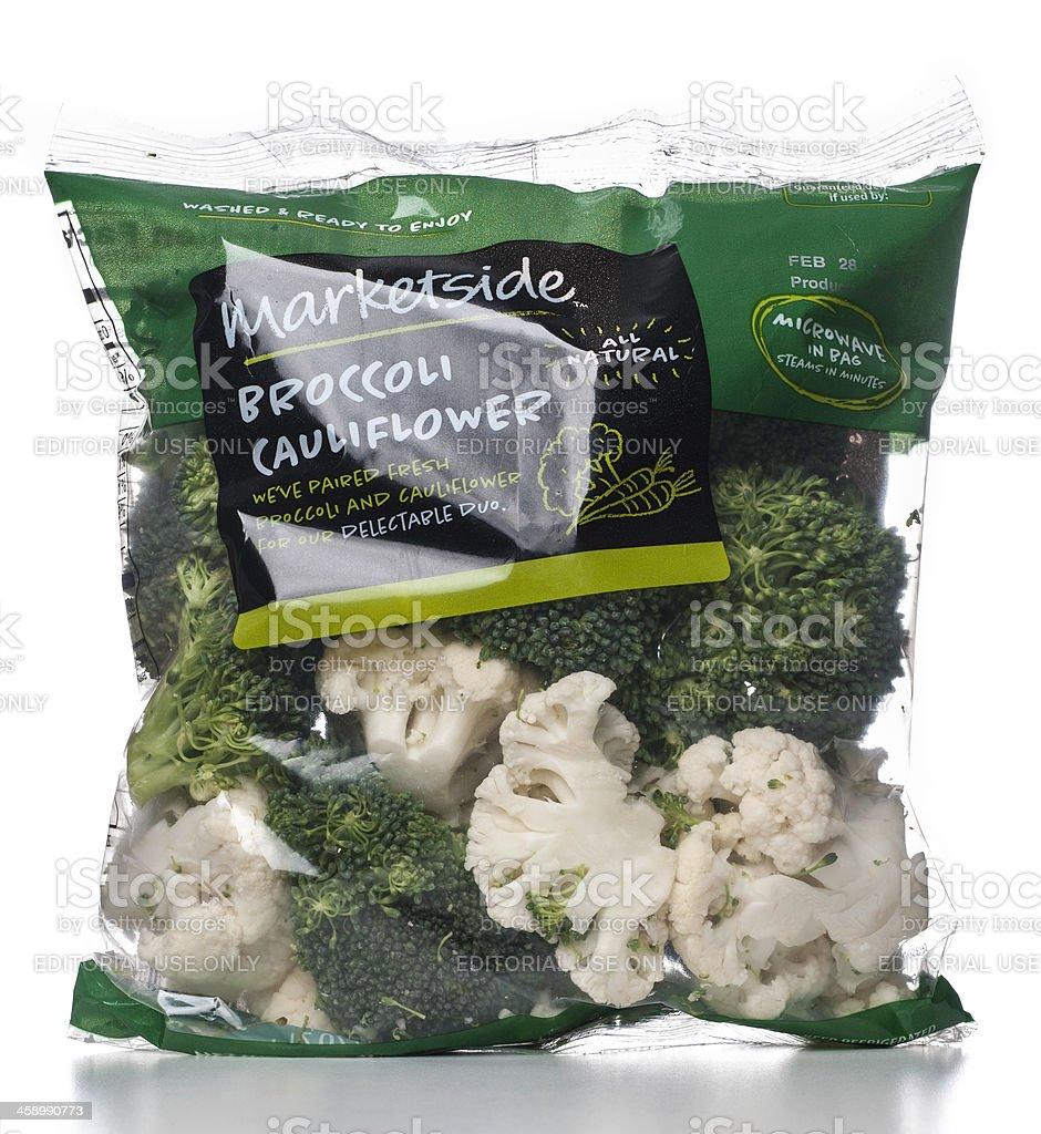 Marketside Broccoli Cauliflower salad bag stock photo