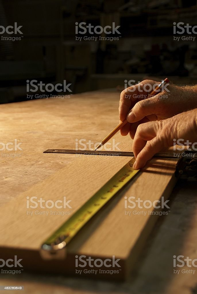 Marking A Board royalty-free stock photo