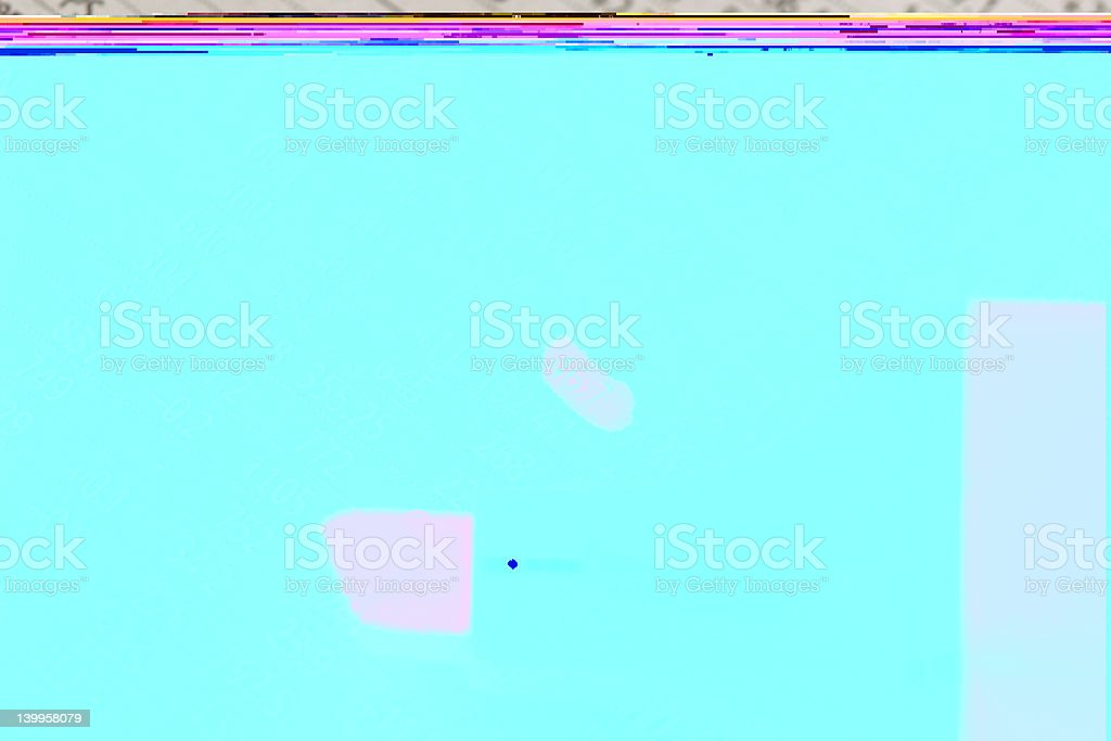 Marking on a newspaper royalty-free stock photo
