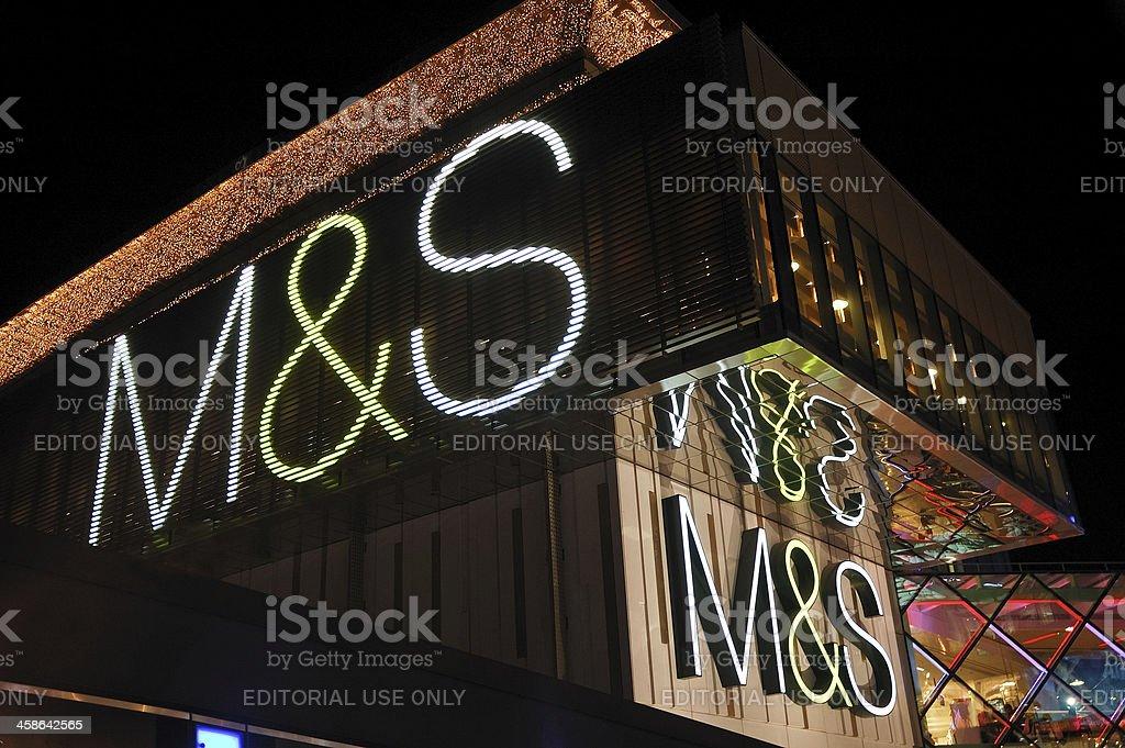 Marks & Spencer stock photo