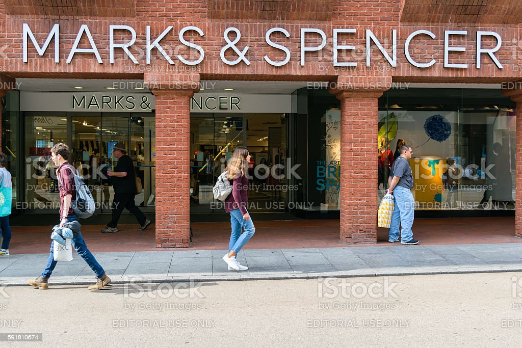 Marks and Spencer shop stock photo